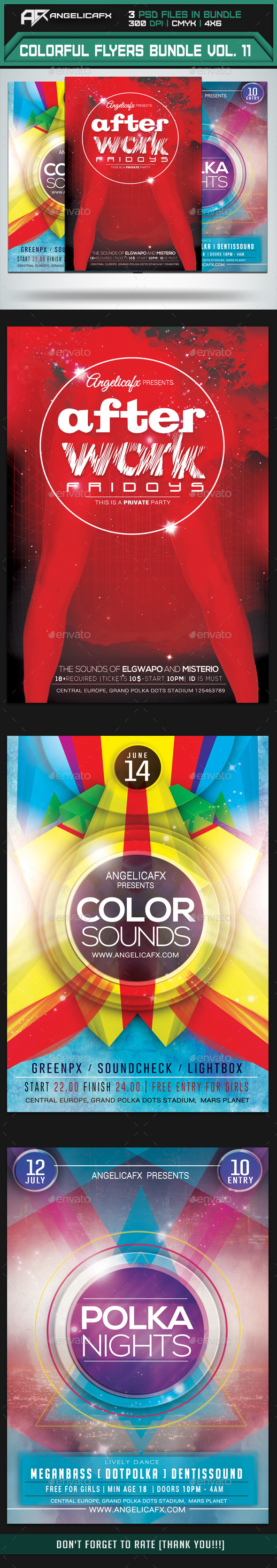 GraphicRiver Colorful Flyers Bundle Vol 11 9135448
