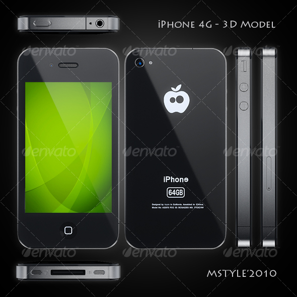 iPhone 4G - 3D Model - 3DOcean Item for Sale