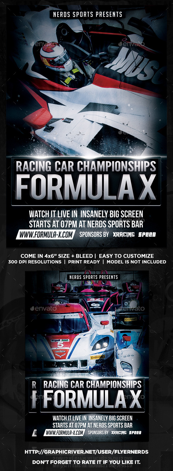 GraphicRiver Formula X Championships Flyer 9135567
