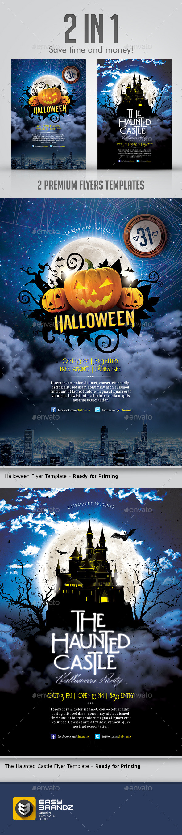 GraphicRiver Halloween Flyer Bundle 9135837