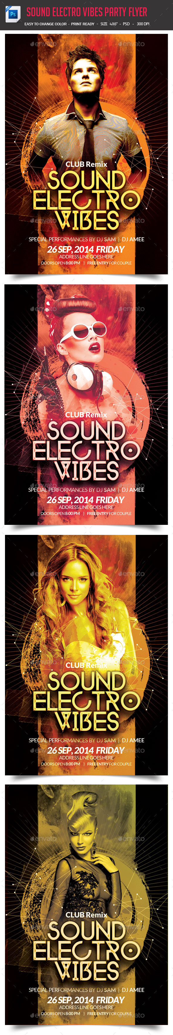 GraphicRiver Sound Electro Vibes Party Flyer 9136028
