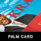 Political Palm Card Template 4 - GraphicRiver Item for Sale