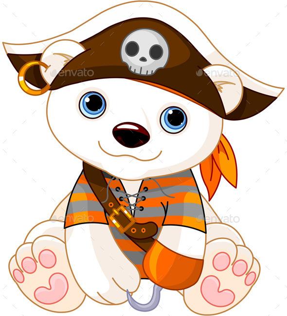 GraphicRiver Halloween Polar Bear 9136222