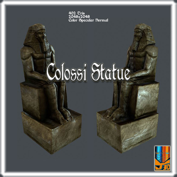 3DOcean Statue of Colossi 9136228