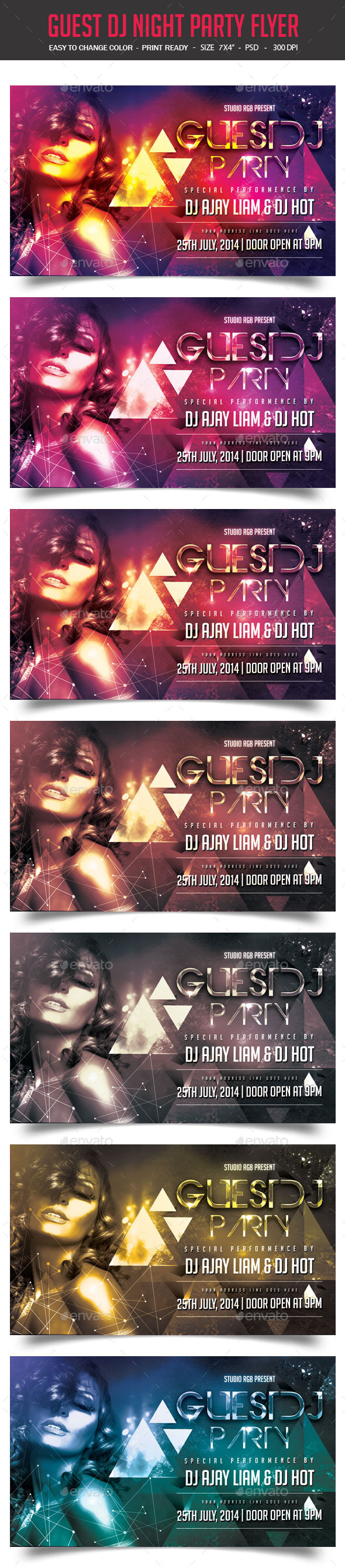 GraphicRiver Guest DJ Party Flyer 9136328