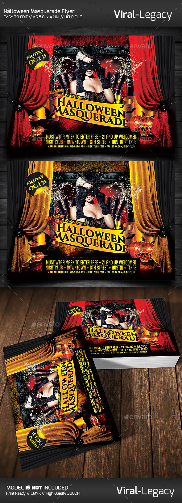 GraphicRiver Halloween Masquerade 9136532