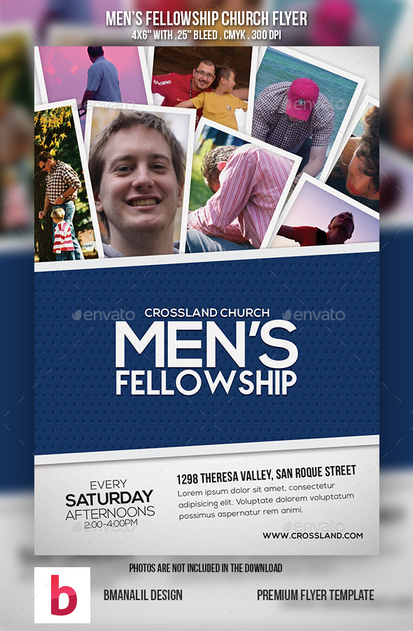 GraphicRiver Men s Fellowship Church Flyer Vol.2 9136533