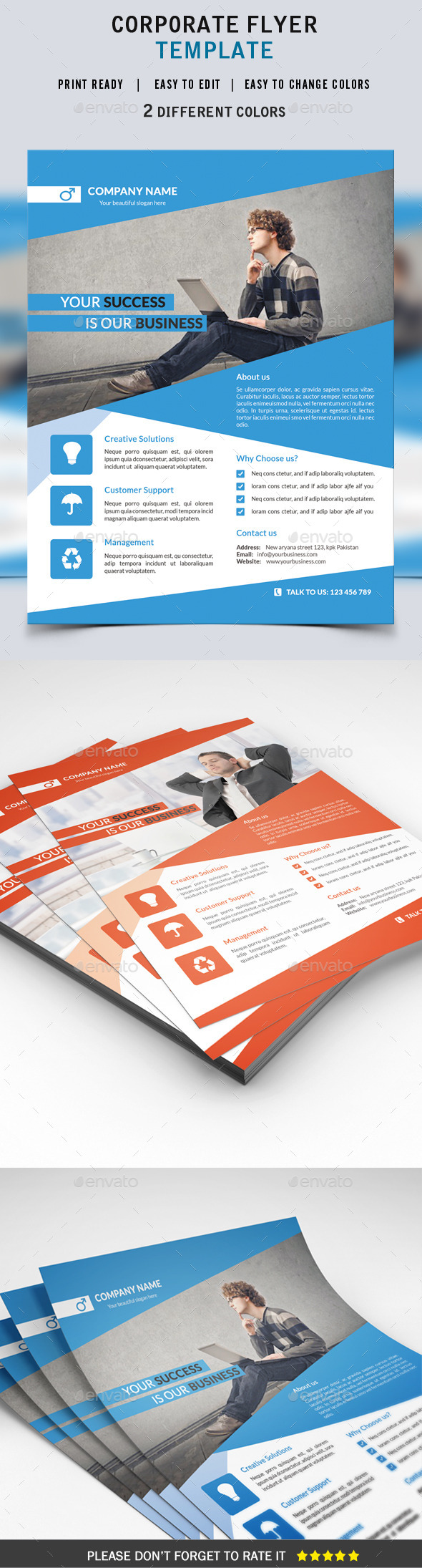 GraphicRiver Corporate Flyer Template 9136540