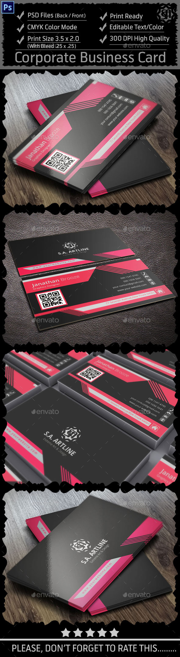 GraphicRiver Modern Corporate Business Card 9136586