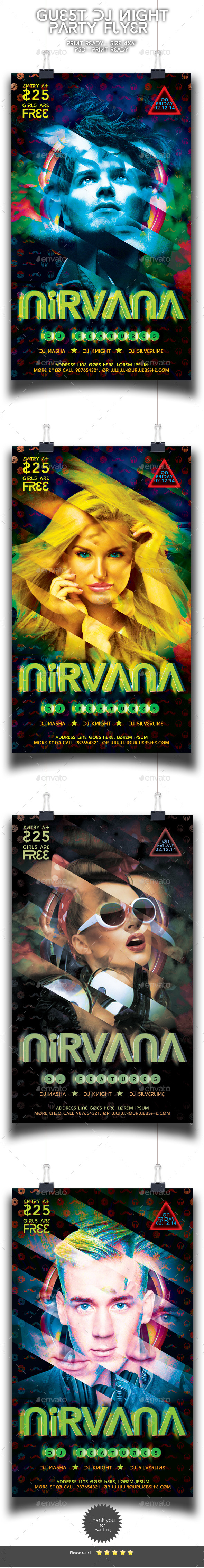 GraphicRiver Guest Dj Party Flyer 9136590