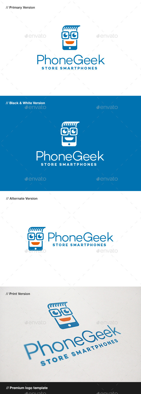 GraphicRiver Phone Geek Logo 9136657