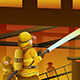 Firefighters Putting out the Building on Fire - GraphicRiver Item for Sale