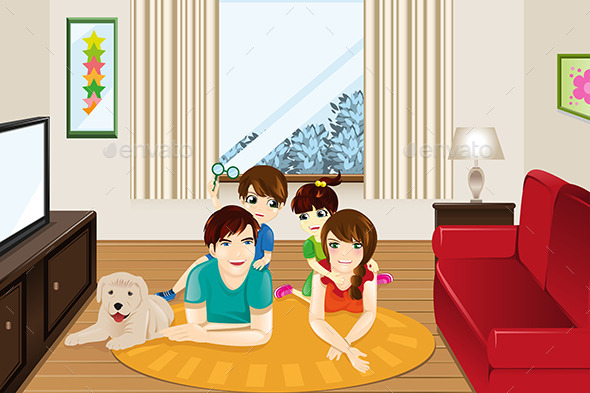 GraphicRiver Family at Home 9137753