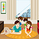 Family at Home - GraphicRiver Item for Sale