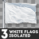 3 White Flags Isolated