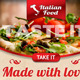 Italian Food Web Banner 03 - GraphicRiver Item for Sale