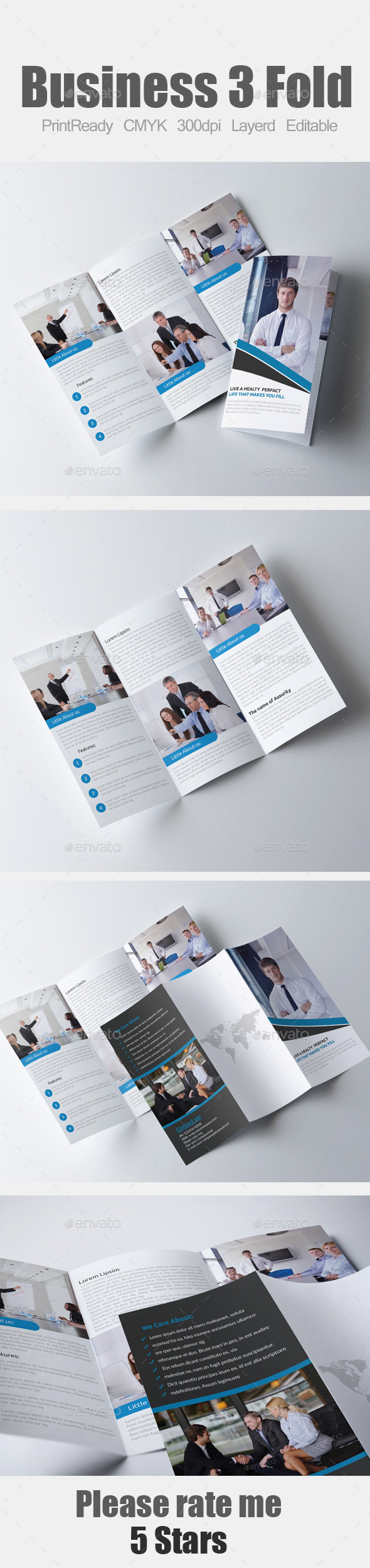 GraphicRiver Tri Fold Business Brochure 9137917