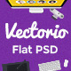 Vectorio - Corporate Responsive Flat PSD Template