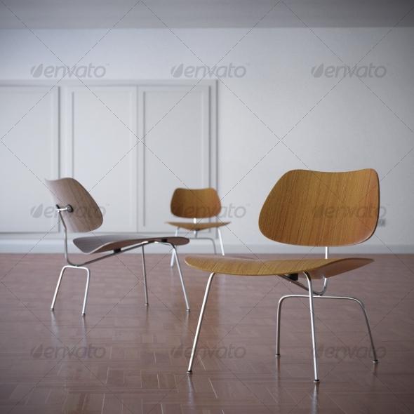 3DOcean Charles Eames LCM Lounge Chair 1945 117938