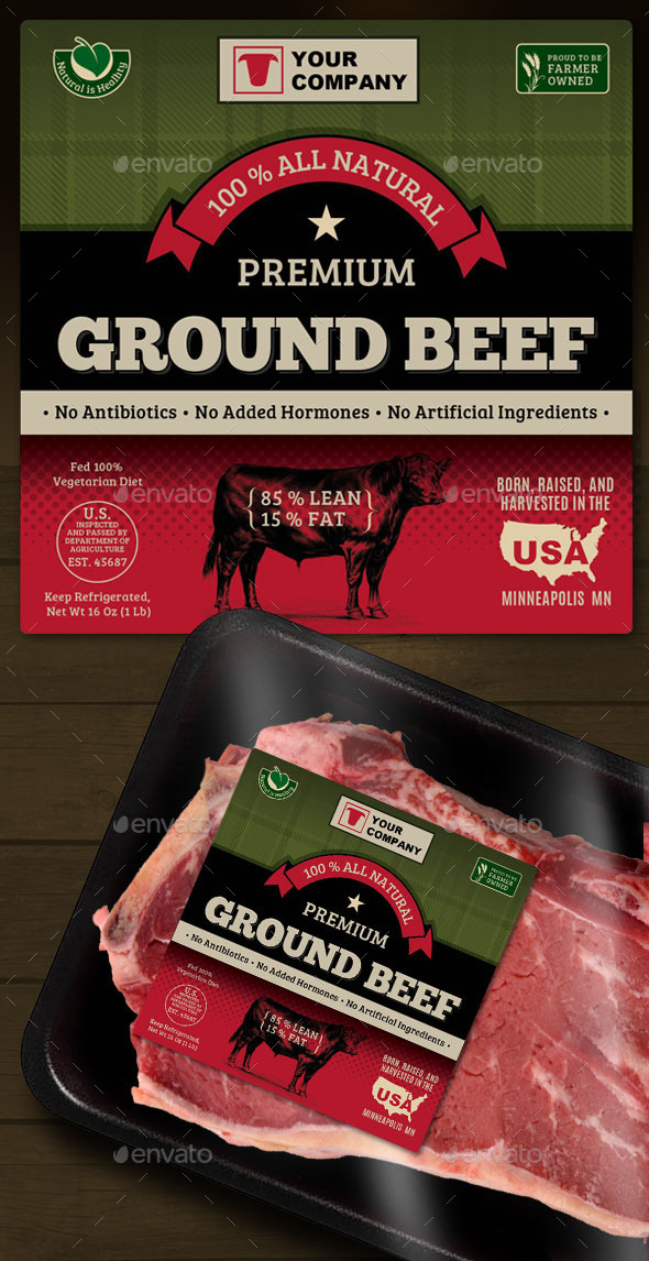 GraphicRiver Ground Beef Label 9137924