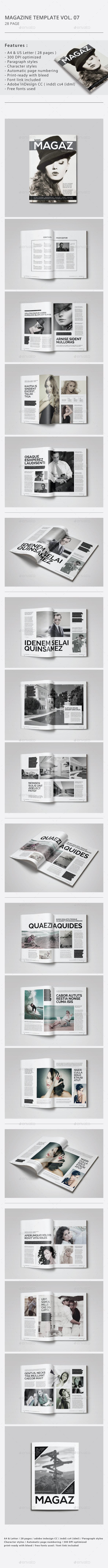 GraphicRiver Indesign Magazine Template Vol.07 9139162