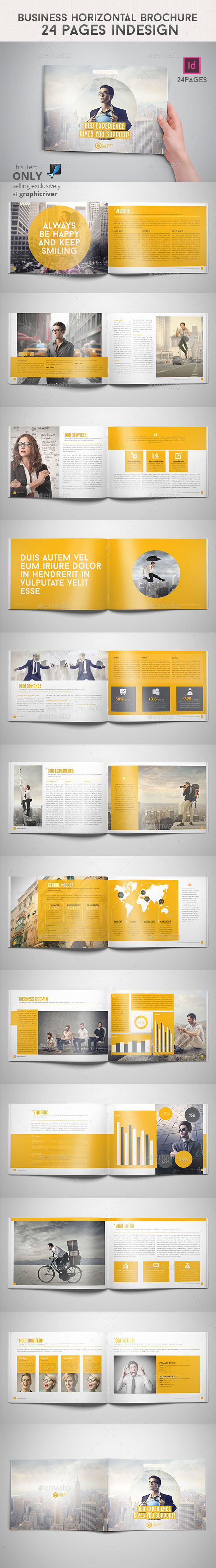 GraphicRiver Business Horizontal Brochure 24 Pages Indesign 9139174