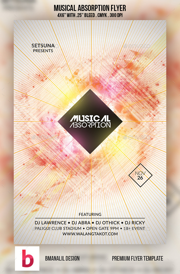 GraphicRiver Musical Absorption Flyer 9139193