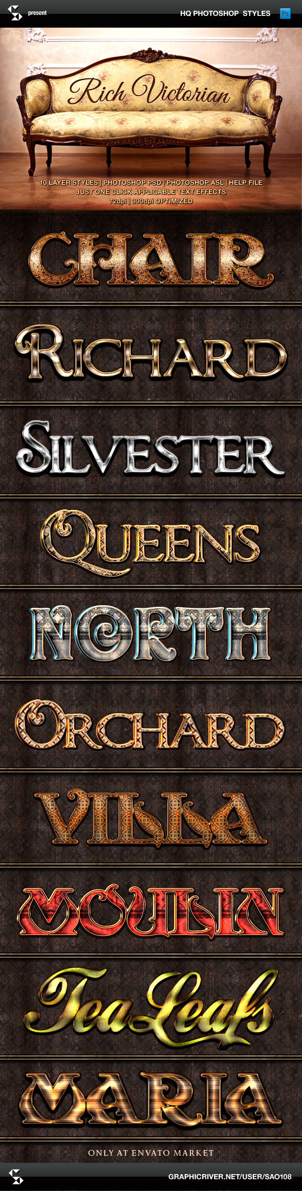 GraphicRiver Rich Victorian and Rustic Text Effects 9139202