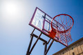 Basketball hoop outdoor with sky - PhotoDune Item for Sale