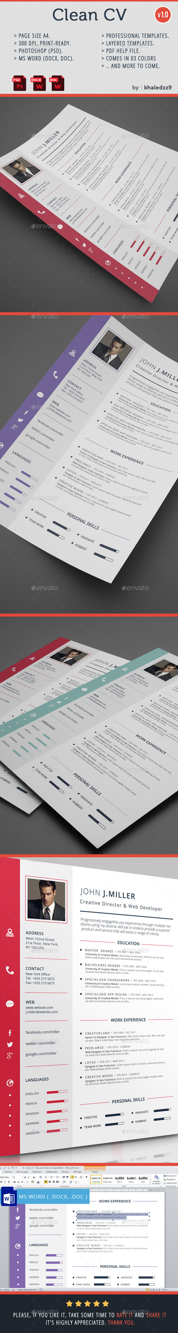 GraphicRiver Clean CV 9139360