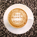 Good morning Monday on hot coffee background - PhotoDune Item for Sale