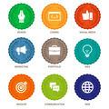 Flat badges - PhotoDune Item for Sale