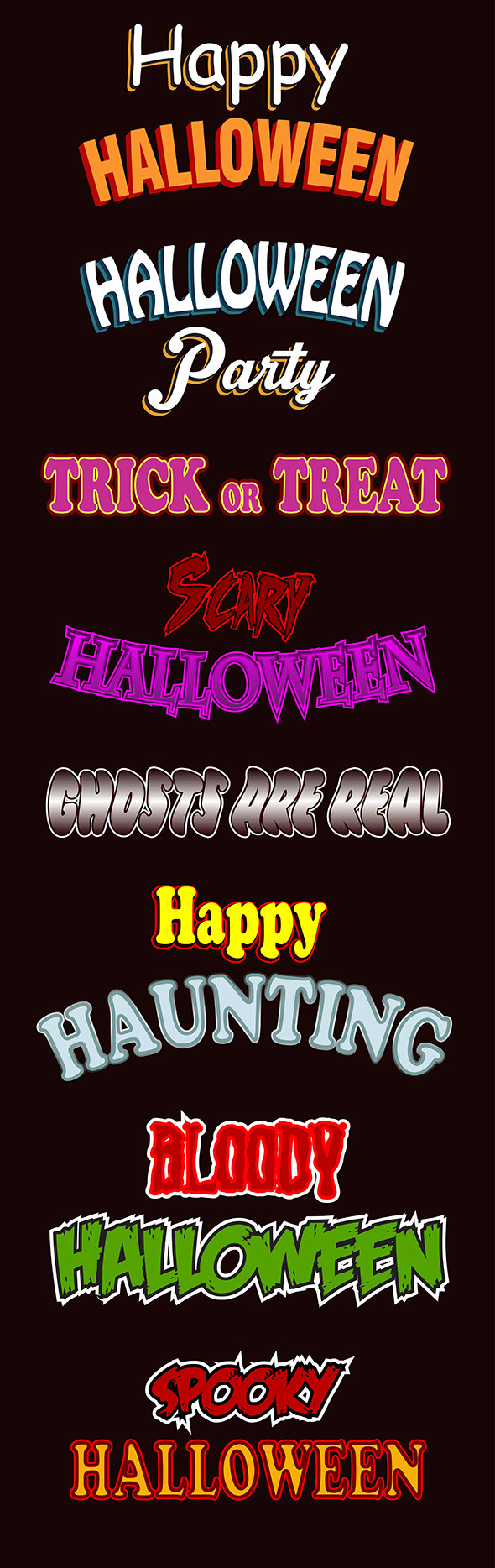 GraphicRiver Halloween Text Styles 9139471