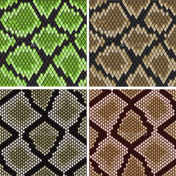 GraphicRiver Seamless Snake Skin Patterns 9139594