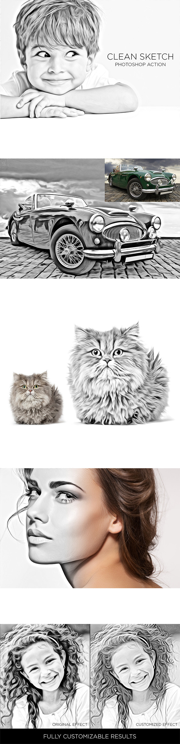 GraphicRiver Clean Sketch Photoshop Action 9140104