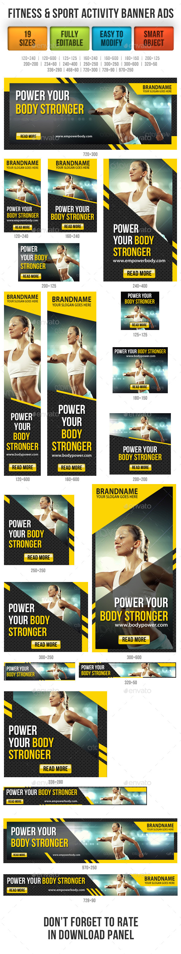 GraphicRiver Fitness & Sport Activity Banner Ads 9120130