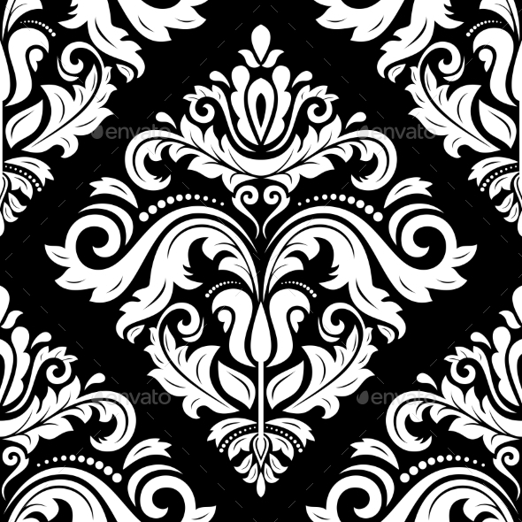 GraphicRiver Damask Seamless Vector Pattern Orient Background 9140249