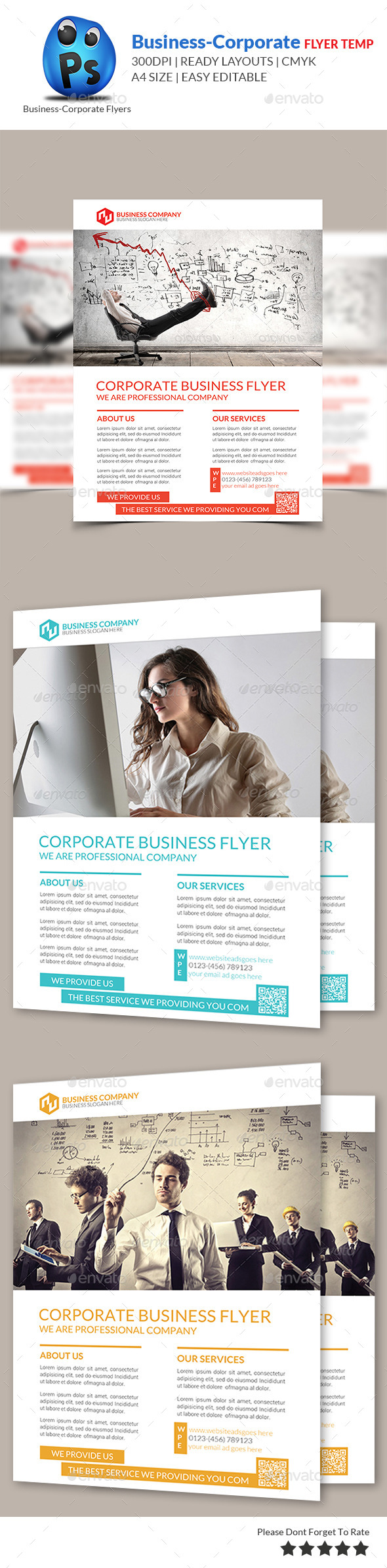 GraphicRiver Corporate Business Flyer Template 9140263