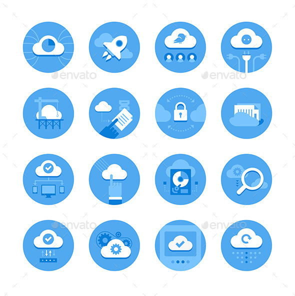 GraphicRiver Cloud Computing Icons 9140403