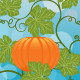 Download Vector Floral background with a pumpkin