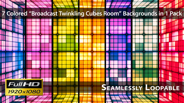 Broadcast Twinkling Cubes Room Pack 01