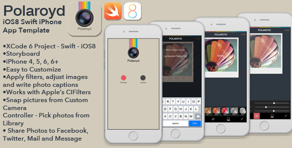 CodeCanyon Polaroyd Full iOS8 Swift Photo App Template 9141764