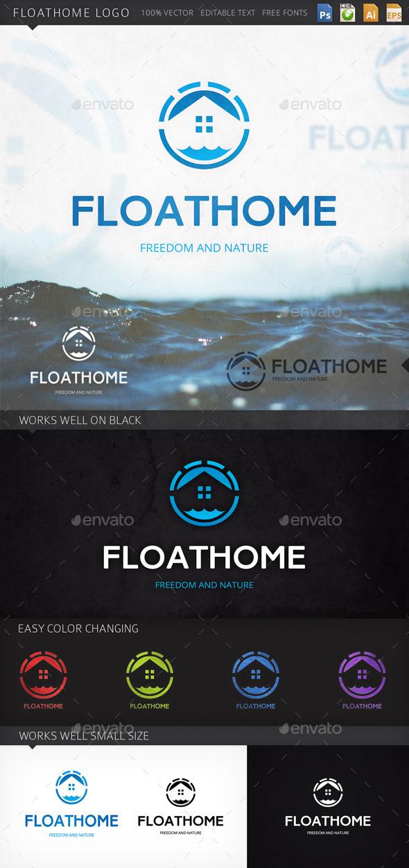 GraphicRiver Floathome Logo 9141784