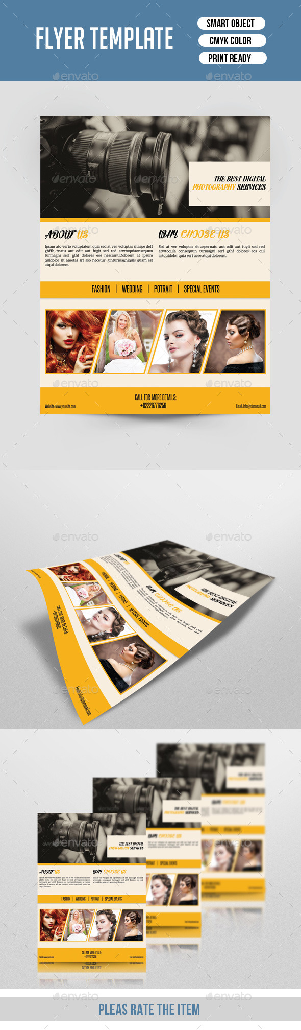 Retro Photography Flyer Template-V140