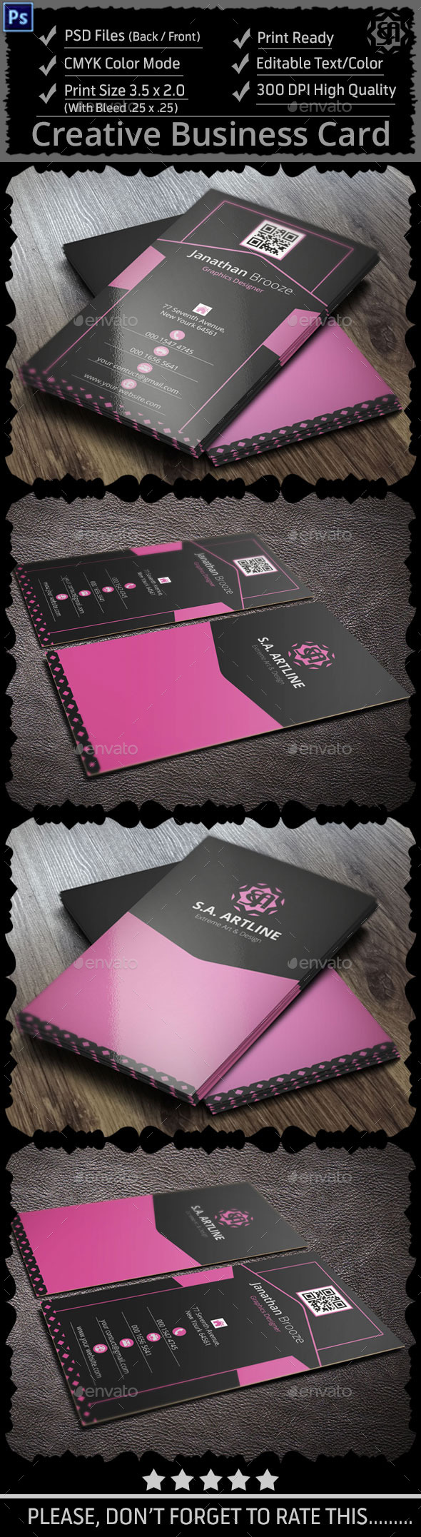 GraphicRiver Cleat Creative Corporate Business Card 9141894