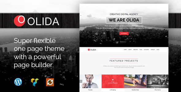 ThemeForest Olida Creative Parallax One Page WP Theme 9142710