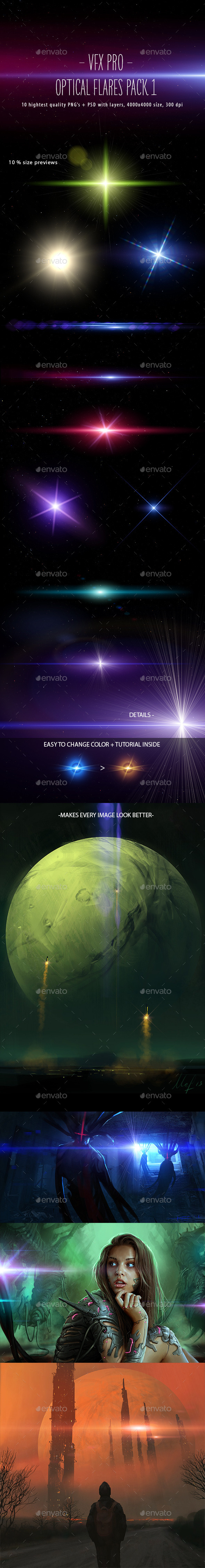 GraphicRiver VFX PRO Optical Flares Pack 1 9143516
