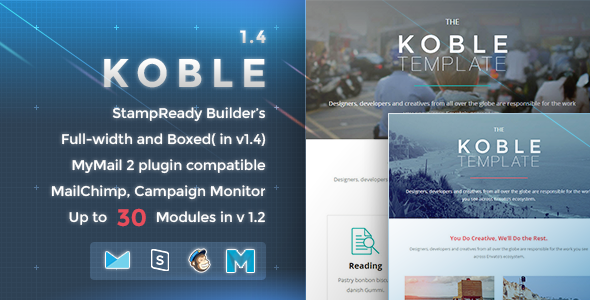 Koble - Responsive Email Template - Newsletters Email Templates