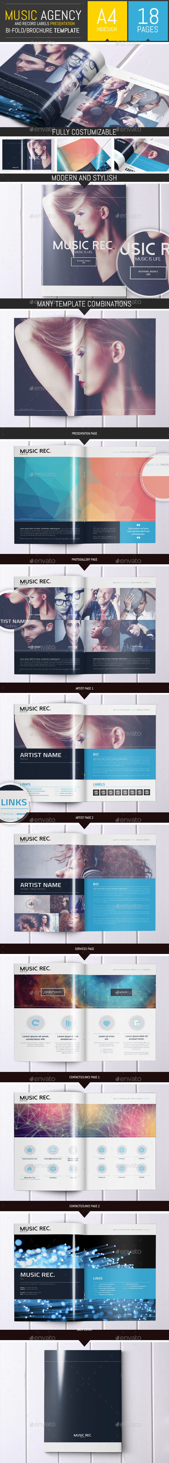 GraphicRiver Music Agency Presentation Brochure Bi-fold 9120347