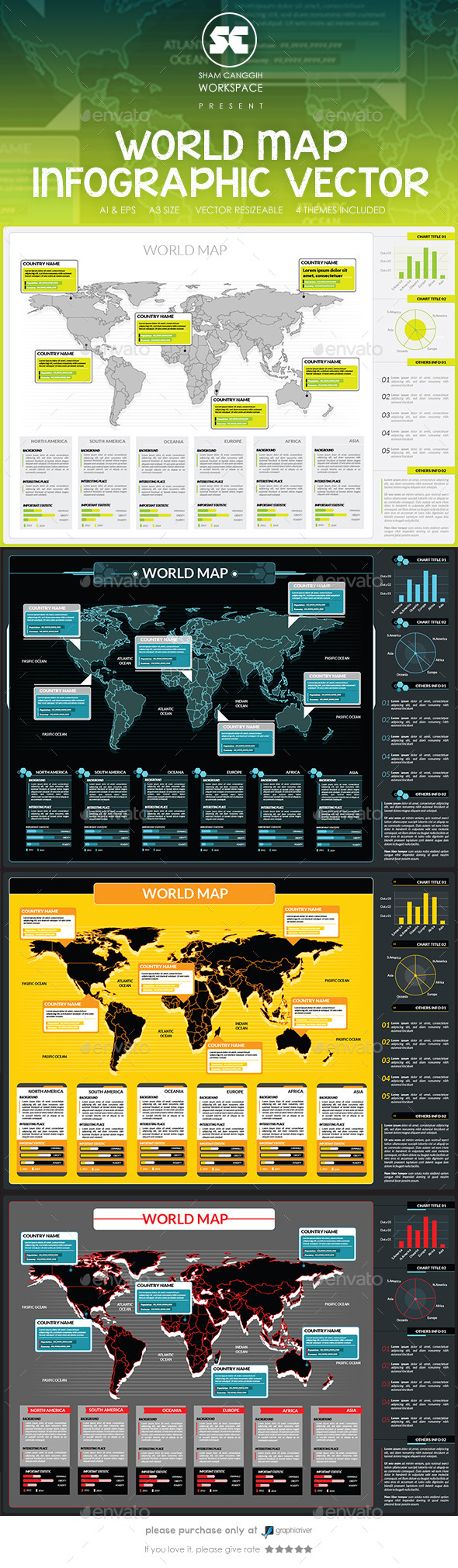 GraphicRiver World Map Infographic 9143880